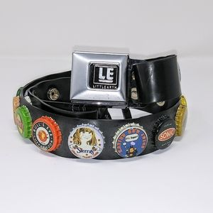 Bottle Cap Belt w/Opener! Made w/Recycled Material